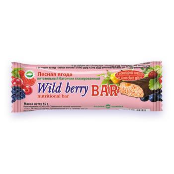 Протеиновый питательный батончик со вкусом лесной ягоды